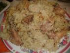 אורז עם פרגית, אטריות וכרובית מטוגנת