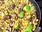 תבשיל עדשים, תירס פטריות וקישוא