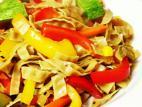 מוקפץ פטוצ`יני משעועית מש עם ירקות