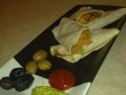 טורטיה עם ירקות מוקפצים
