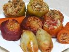 מבחר ירקות ממולאים בבשר ואורז