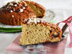 עוגת טחינה ותמרים