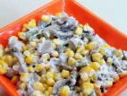 סלט טונה, תירס ופטריות