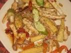 נתחי פרגיות עם ירקות