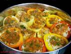 ירקות ממולאים באורז וטונה