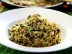 תבשיל אורז עם תרד ובשר טחון