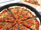 פיצה מבצק שמרים ללא התפחה