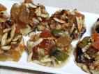 מאפה בצק שקדים עם פירות יבשים