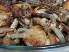 כבדי עוף עם טפטוף של ערק