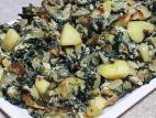 מפראקה - תבשיל מנגולד עם תפוחי אדמה וביצים
