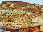 דג נסיכת הנילוס על מצע ירקות