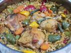שוקי עוף עם אורז בתנור