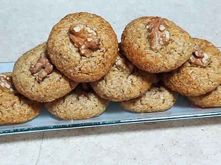 עוגיות אגוזים ללא קמח