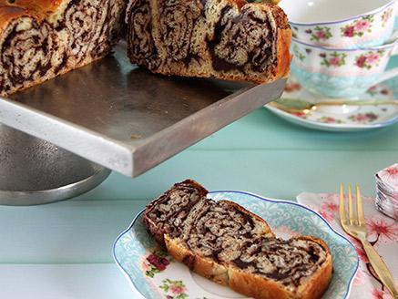 עוגת שמרים שבילי שוקולד נוגט משגעת