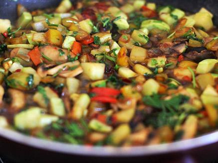 קוסקוס עם ירקות מתובלים