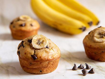מאפינס בננה ושוקולד