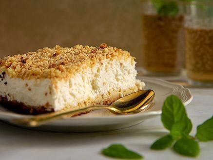 עוגת גבינה פירורים קרה מושלמת
