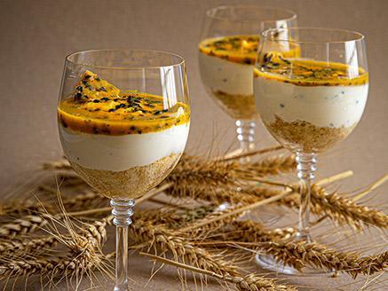 כוסות גבינה ופסיפלורה