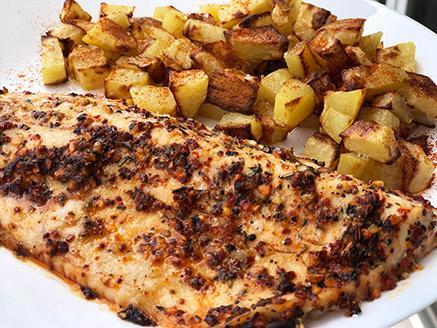 פילה בורי בתנור בתוספת תפוחי אדמה