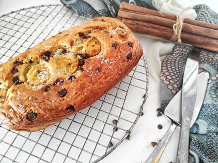 עוגת בננה ושוקולד צ`יפס טבעונית מקמח כוסמין