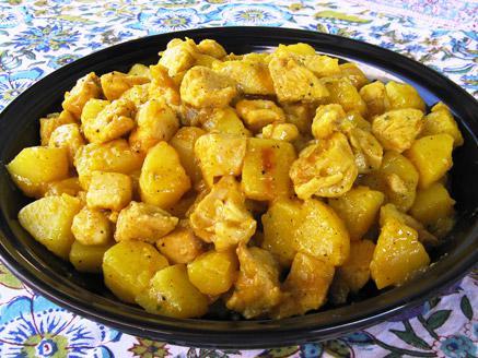 חזה עוף עם תפוחי אדמה
