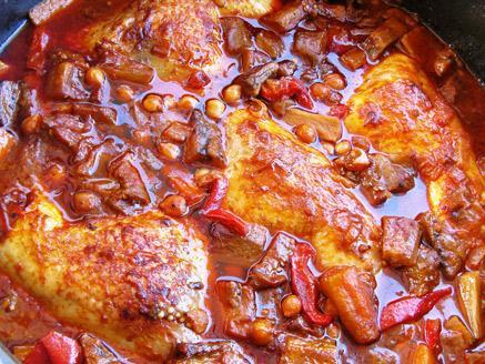 חורוש באדמג`אן עם עוף