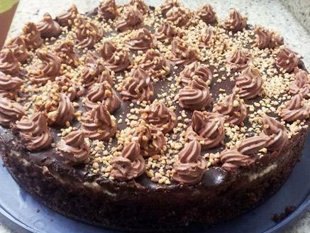 עוגת בראוניז, קצפת ושוקולד מריר