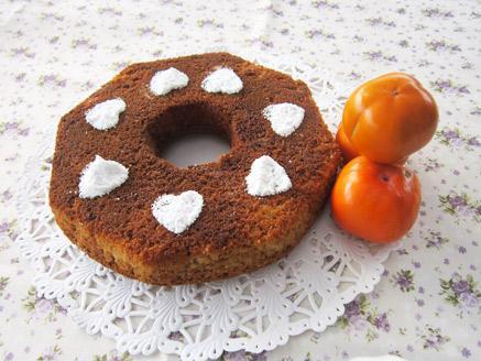 עוגת אפרסמונים ותפוזים