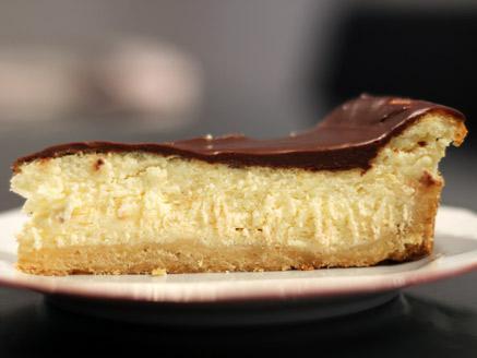 פאי גבינה בציפוי גנאש שוקולד