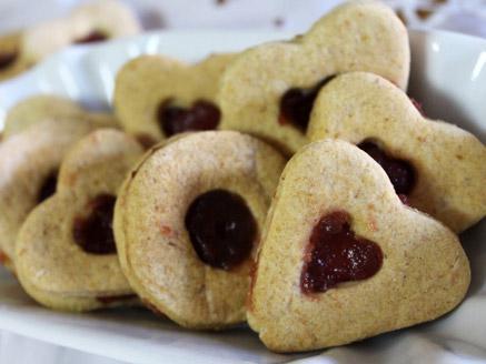 עוגיות ריבה ללא גלוטן וללא סוכר