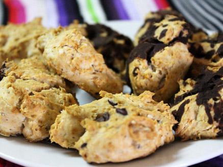 עוגיות שוקולד ואגוזים ללא גלוטן וסוכר