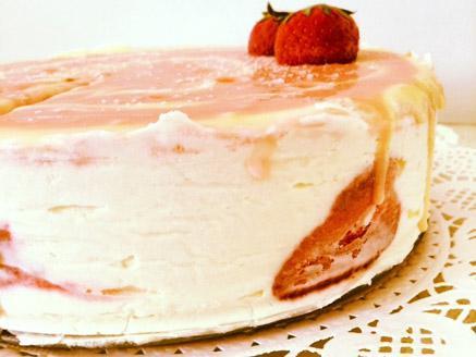 עוגת גבינה ניו יורקית עם תות בננה
