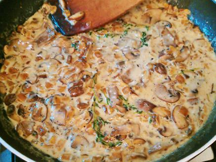 תפוחי אדמה עם שמנת ופטריות