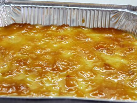 עוגת שכבות בצק פריך עם ריבת משמשים