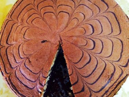 עוגת ספירלה בטעמי קקאו ווניל
