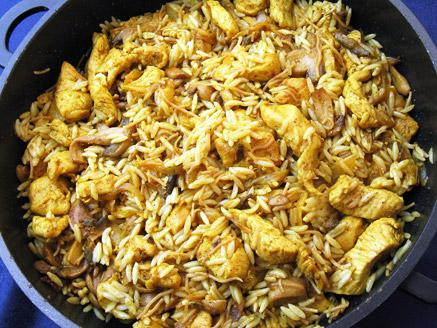 פתיתים עם חזה עוף ופטריות