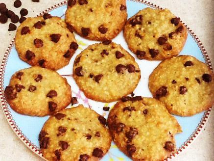 עוגיות שיבולת שועל ושוקולד צ`יפס