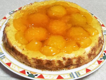 עוגת גבינה ואפרסקים ללא גלוטן