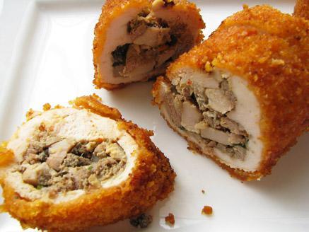 סושי שניצל במילוי כבד עוף ופטריות