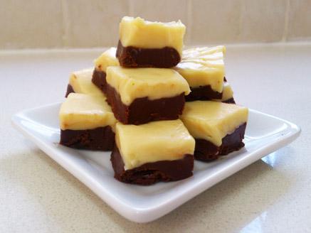 פאדג` שוקולד בשני צבעים