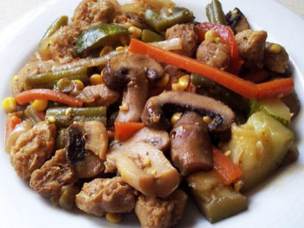 פתיתי סויה עם ירקות