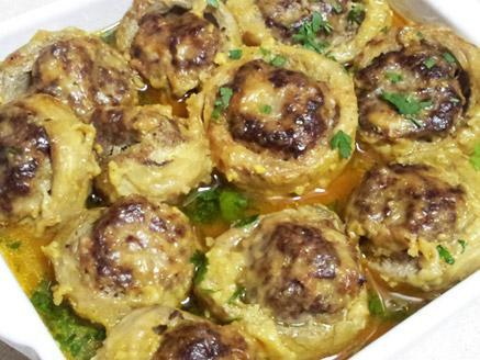 תחתיות ארטישוק במילוי כדורי בשר