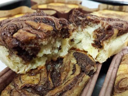 עוגת בננה שוקולד