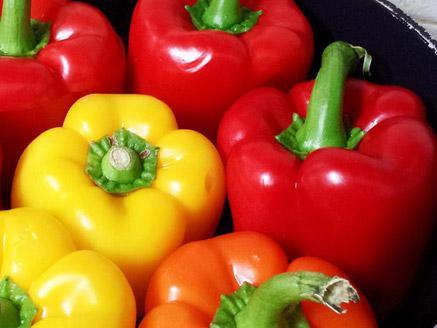 פלפלים ממולאים טבעוניים ברוטב עגבניות