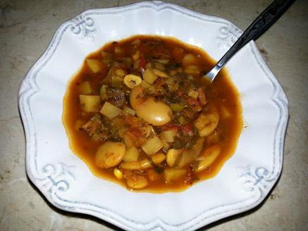מרק שעועית צמחוני