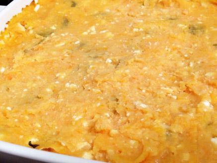 פירה בטטה עם גבינות וזיתים