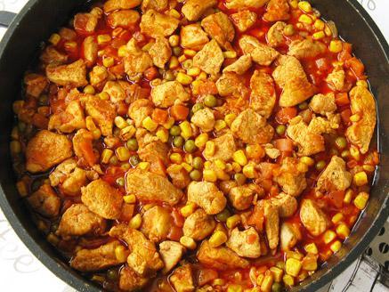 פילה עוף עם ירקות