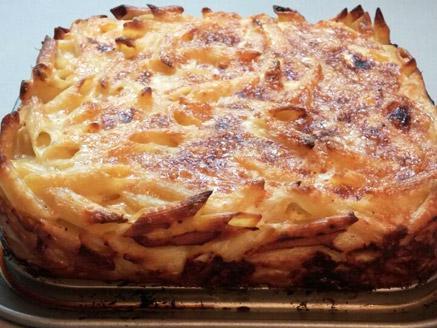 פשטידת פסטה ביתית עם גבינות