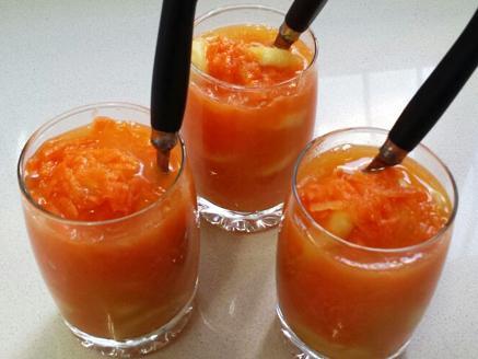 קינוח גזר, תפוזים ובננה