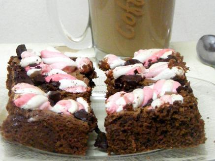 בראוניז שוקולד מריר ומרשמלו
